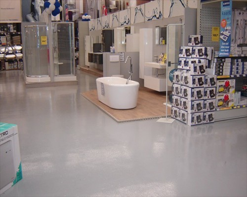 Grey High Build Epoxy Coatings Diy Retail Warehouse Resin Flooring Birmingham