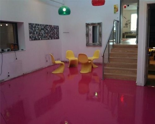 Pink Seamless Poured Rubber Flooring Shop and  Retail Flooring Edinburgh