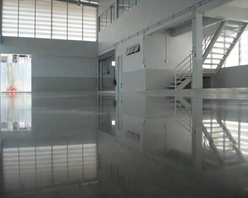Polished Concrete Flooring High Gloss Flooring Shiny Resin Flooring