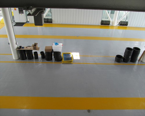 Seamless Flowable Epoxy Flooring Emirates Cable Car Gondola Garage Greenwich London