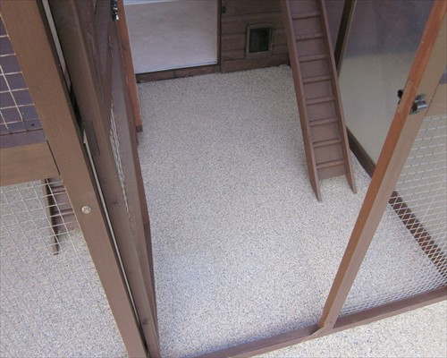 Seamless Polyaspartic Resin Flooring Flake System Animal Husbandry Floors Cattery Flooring Hereford