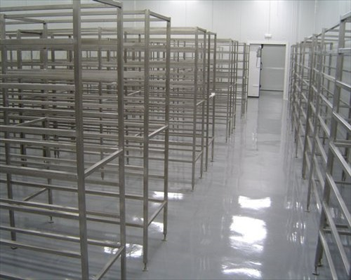 Seamless Polyurethane Flowable Food Factory Flooring Park Royal London