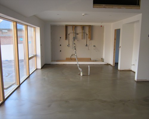 Seamless Poured Micro Concrete Flooring Residential Bedfordshire