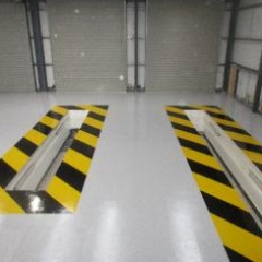 HGV Garage Floor Painters Middlesbrough Cleveland